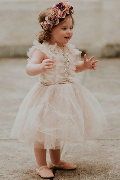 Tutu du Monde Golden Suncup Tutu Dress. Flower girl dress. Girls party dress.